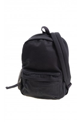 Black single compartment backpack, Polo Ralph Lauren