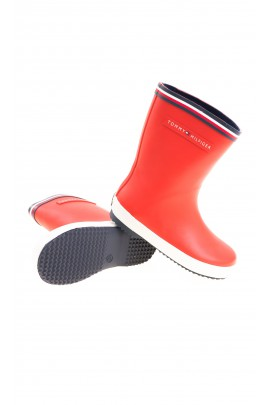 Red rain boots for kids, Tommy Hilfiger