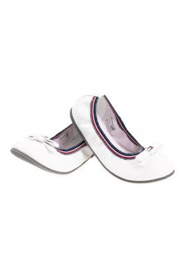 White ballerinas with a bow for girls, Tommy Hilfiger