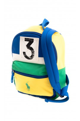 Yellow & green single-compartment backpack, Polo Ralph Lauren