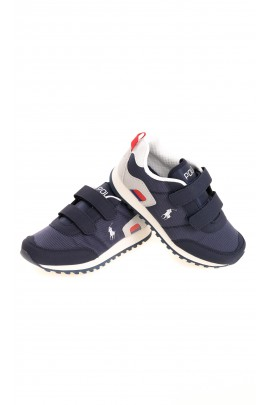 Blue navy Velcro sneakers for boys, Polo Ralph Lauren