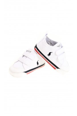 White Velcro sports shoes for baby, Polo Ralph Lauren