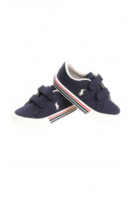 Blue navy kids Velcro sneakers, Polo Ralph Lauren