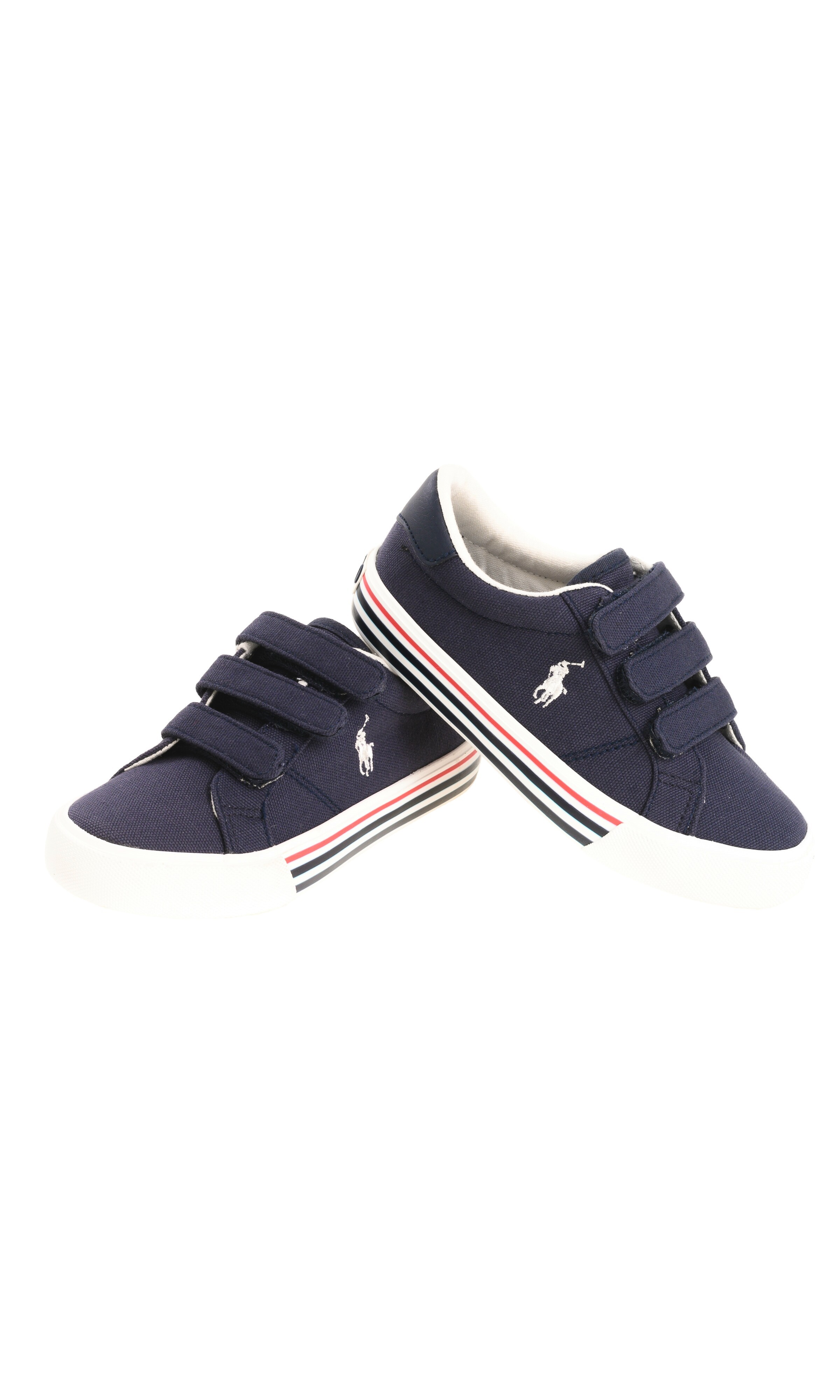 Blue navy kids Velcro sneakers, Polo