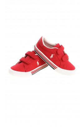 Red kids Velcro sneakers, Polo Ralph Lauren