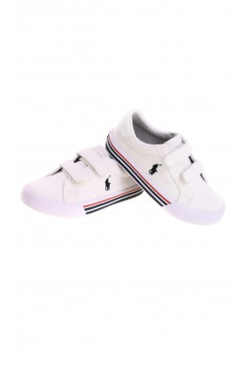 White kids Velcro sneakers, Polo Ralph Lauren