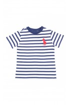 Boys T-shirt in white and navy stripes, Polo Ralph Lauren