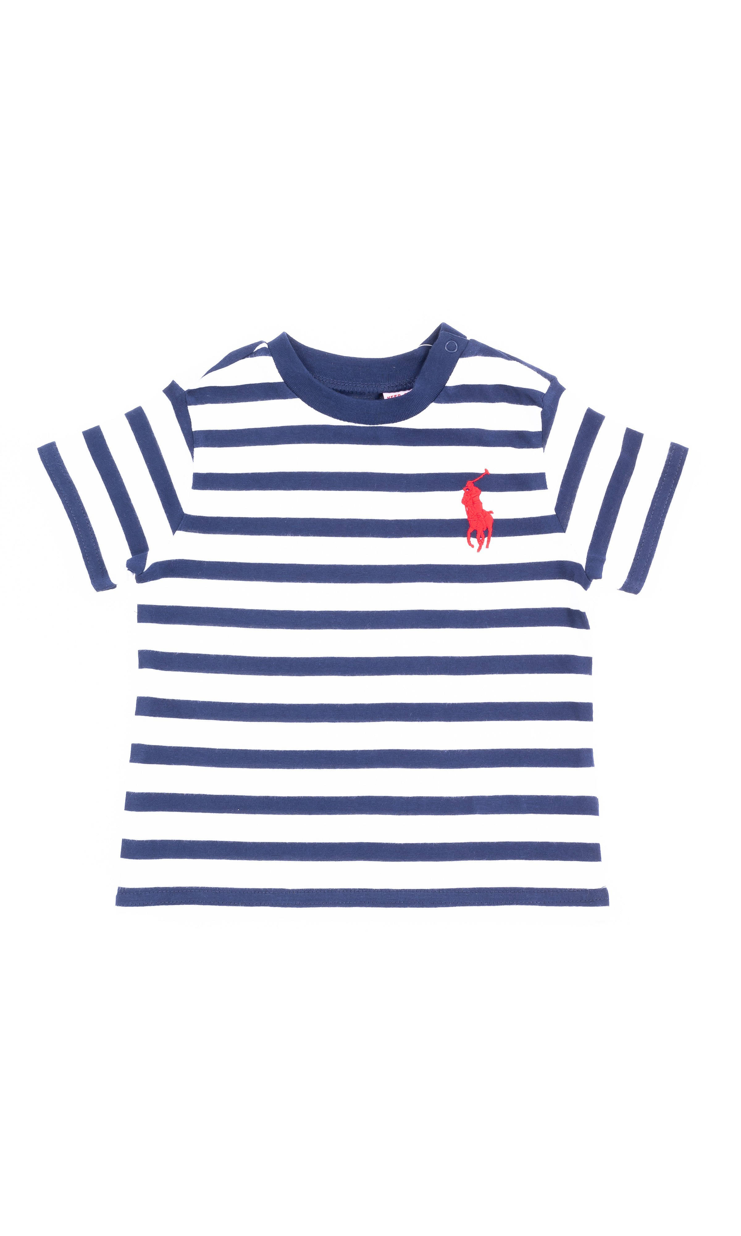 728ceff530bc Boys T-shirt in white and navy stripes, Polo Ralph Lauren ...
