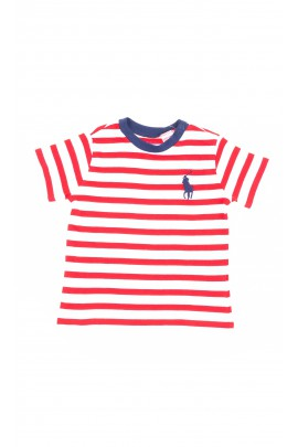 Boys T-shirt in white and red stripes, Polo Ralph Lauren