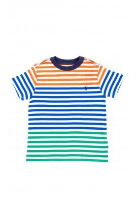 T-shirt chłopięcy w kolorowe paski, Polo Ralph Lauren