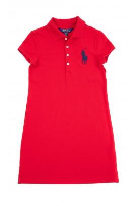 Prosta czerwona sukienka, Polo Ralph Lauren