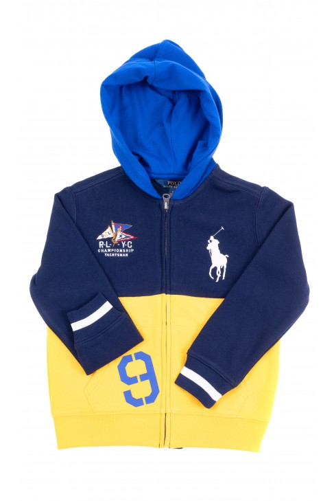 Navy blue-yellow hoodie, Polo Ralph Lauren