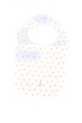 Rose print white baby bib, Ralph Lauren
