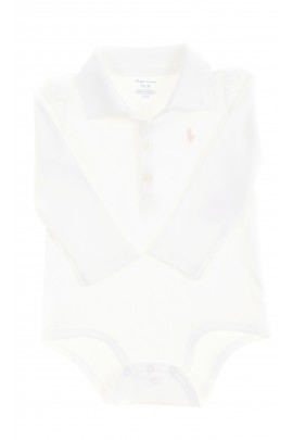 Elegant white body with polo collar, Ralph Lauren
