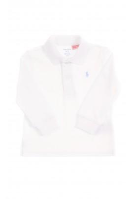 Elegant white polo longsleeve, Ralph Lauren