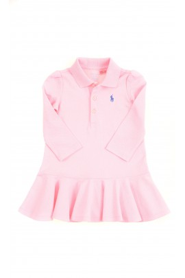 Pink baby dress with long sleeves, Ralph Lauren