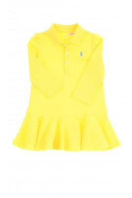 Yellow baby dress with long sleeves, Ralph Lauren