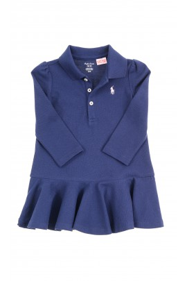 Navy blue baby dress with long sleeves, Ralph Lauren