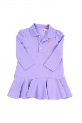 Violet baby dress with long sleeves, Ralph Lauren