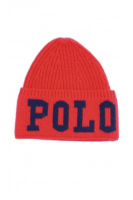 Warm red beanie, Polo Ralph Lauren