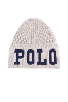Warm grey beanie, Polo Ralph Lauren