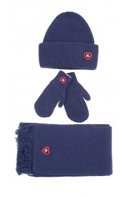 Warm thick navy blue beanie, Polo Ralph Lauren