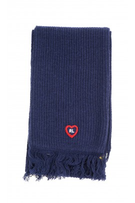 Thick double navy blue scarf, Polo Ralph Lauren