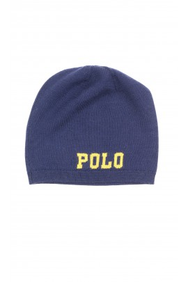 Thin dark blue elongated beanie, Polo Ralph Lauren