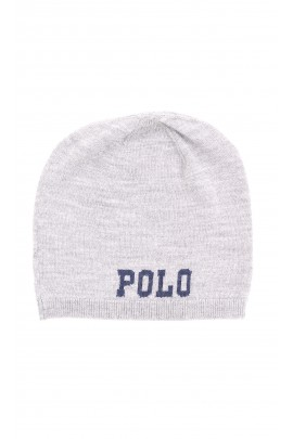 Thin grey beanie, Polo Ralph Lauren