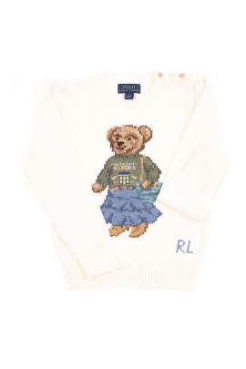 White girls sweater with the iconic teddy bear, Polo Ralph Lauren