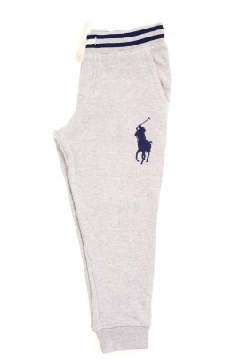 Grey sweatpants with a large horse on the front, Polo Ralph Lauren