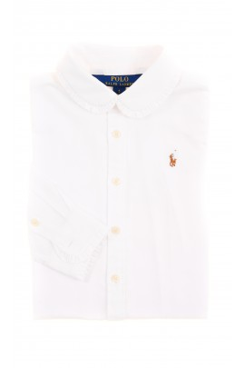 Elegant white Oxford shirt for girls, Polo Ralph Lauren