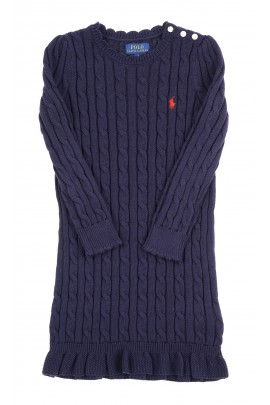 Navy blue cable jumper dress, Polo Ralph Lauren