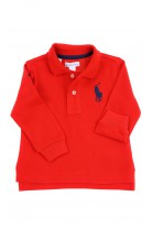 Red long-sleeved polo shirt, Ralph Lauren