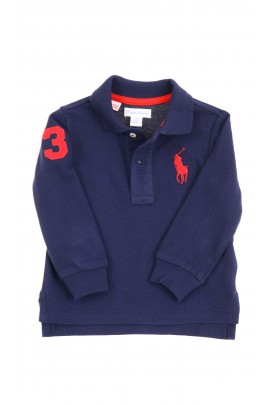 Navy blue long-sleeved polo shirt, Ralph Lauren