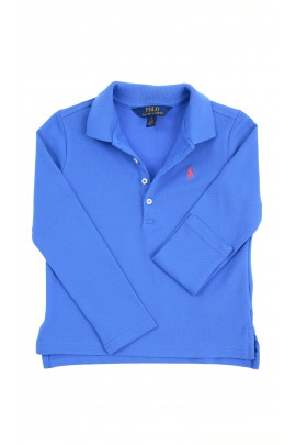 Blue long-sleeved polo shirt for girls, Polo Ralph Lauren
