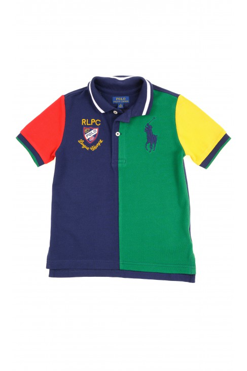 Green-navy blue polo shirt for girls, Polo Ralph Lauren
