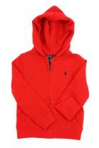 Red full-zipped hoodie, Polo Ralph Lauren