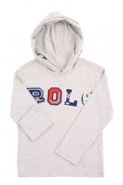 Grey light hoodie with applications Polo Ralph Lauren