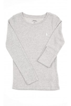 Grey long-sleeved blouse for girls, Polo Ralph Lauren
