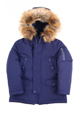 Navy blue winter parka jacket, Polo Ralph Lauren