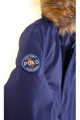 Navy blue winter parka jacket, Polo Ralph Lauren