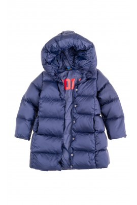 Navy blue down coat for girls, Polo Ralph Lauren