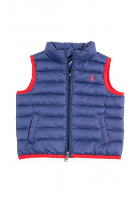 Navy blue down gilet for babies, Ralph Lauren