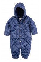 Navy blue quilted barn bunting for babies, Ralph Lauren