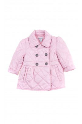 Lightpink double-breasted jacket with a clasp closure for babies, Ralph Lauren