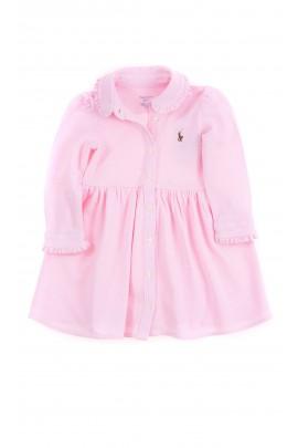 Lightpink dress with long sleeves for babies, Ralph Lauren
