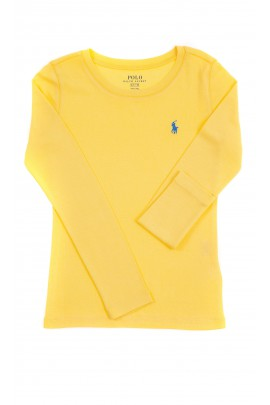Yellow long sleeved blouse for girls, Polo Ralph Lauren