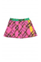 Colourful checked pink skort, ELSY