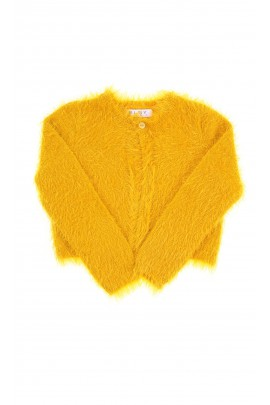 Yellow fur bolero for girls, ELSY